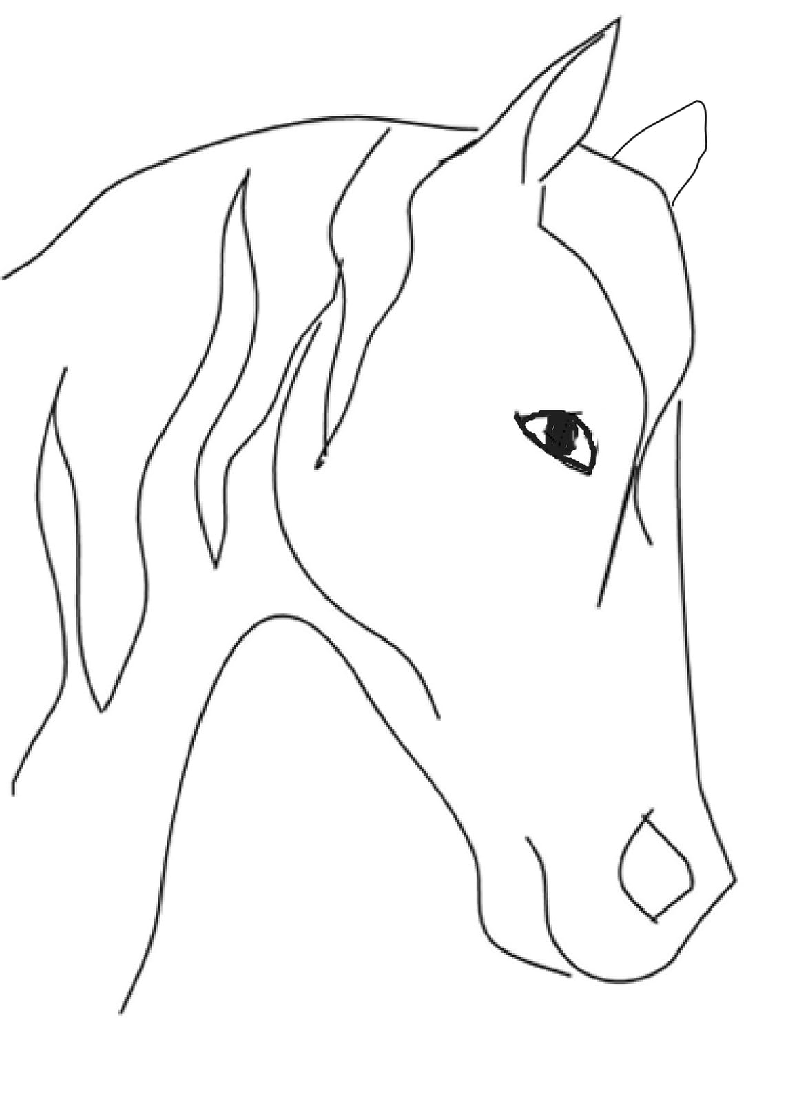 Simple Horse Head Drawing At Getdrawings Com