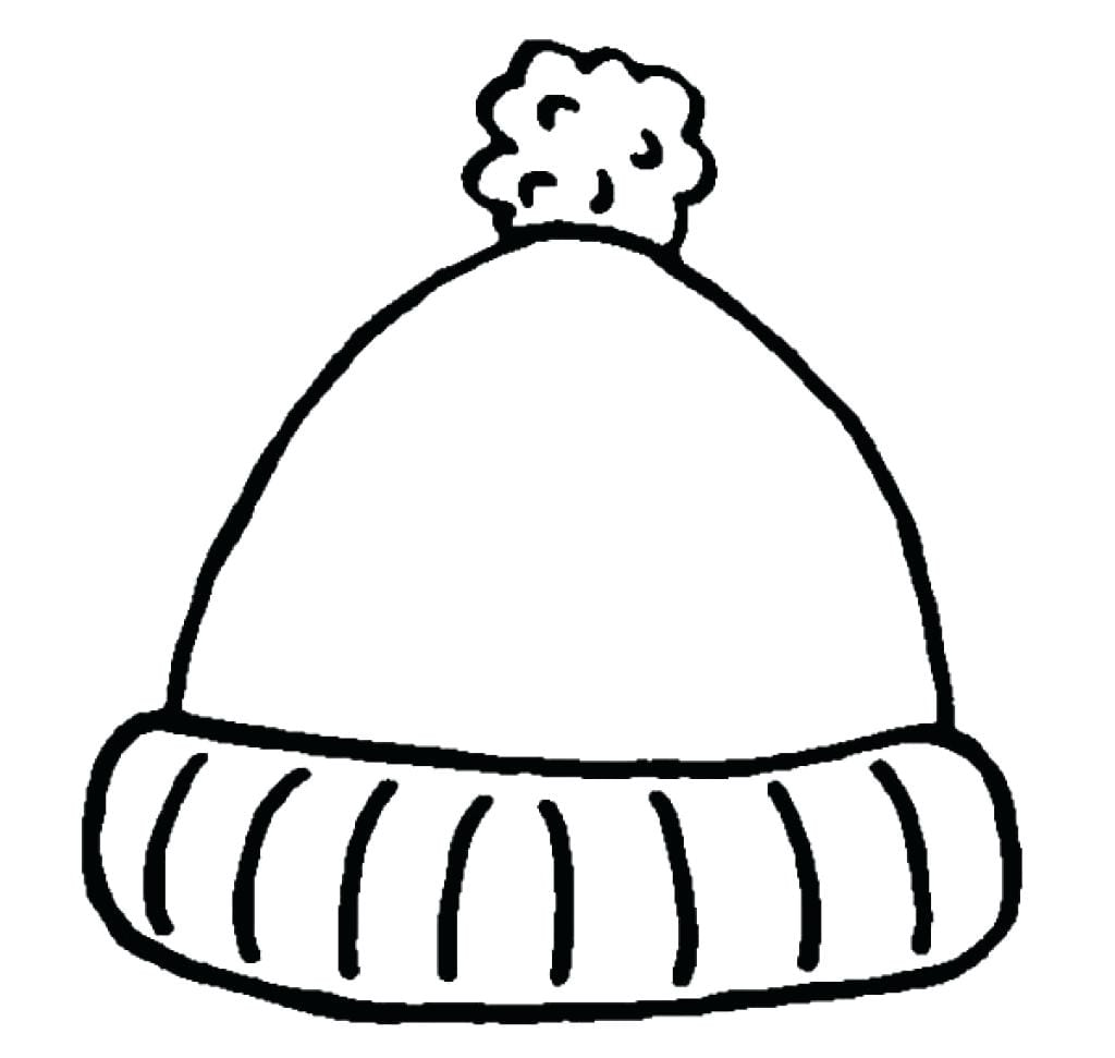 Simple Winter Hat Coloring Pages Sun Throughout Page Mitten At