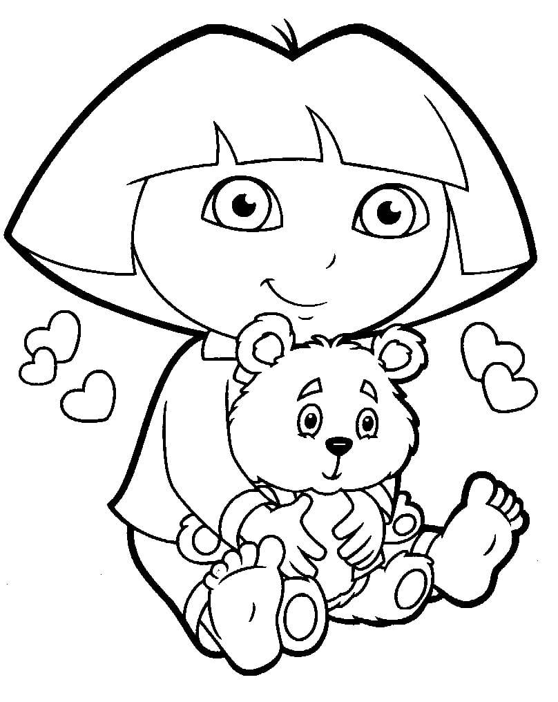 Skill Dora The Explorer Coloring Pages Pdf Pag  17611