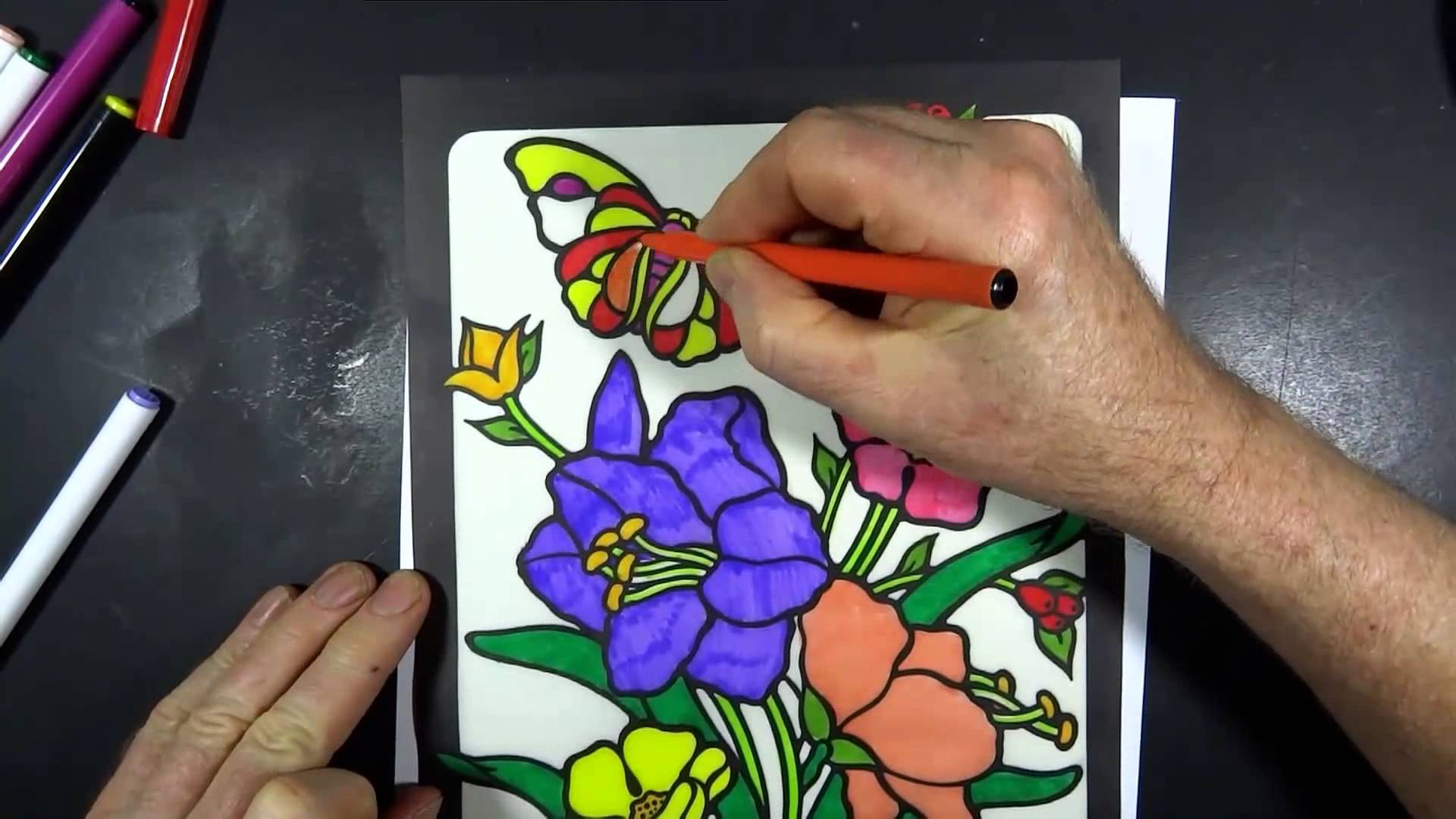 Stained Glass Coloring Book 19020
