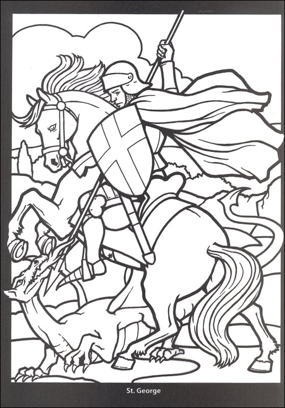 Stained Glass Coloring Book Saints Dover Publications 052615