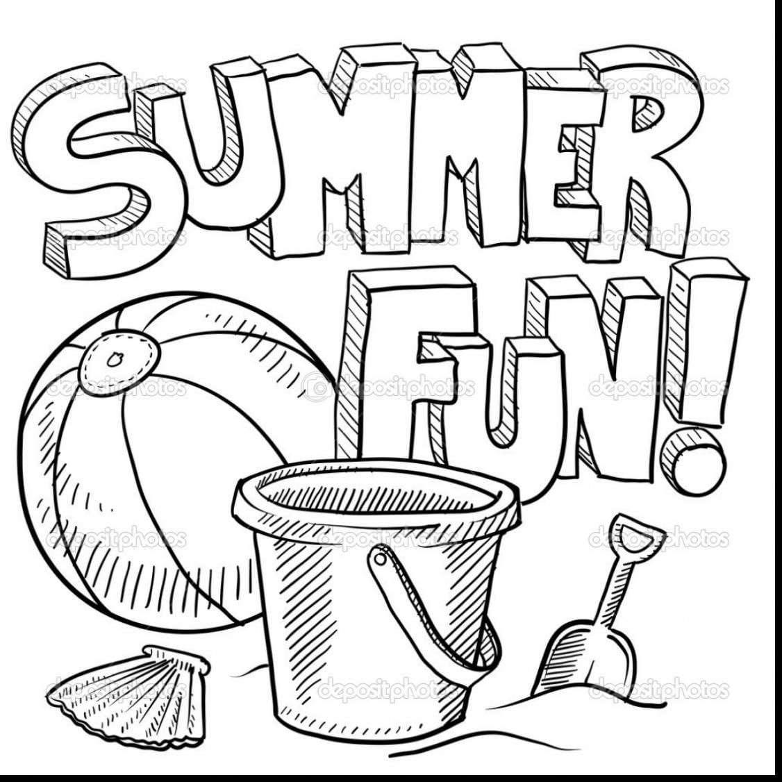 Summer Coloring Pages Inside Summertime