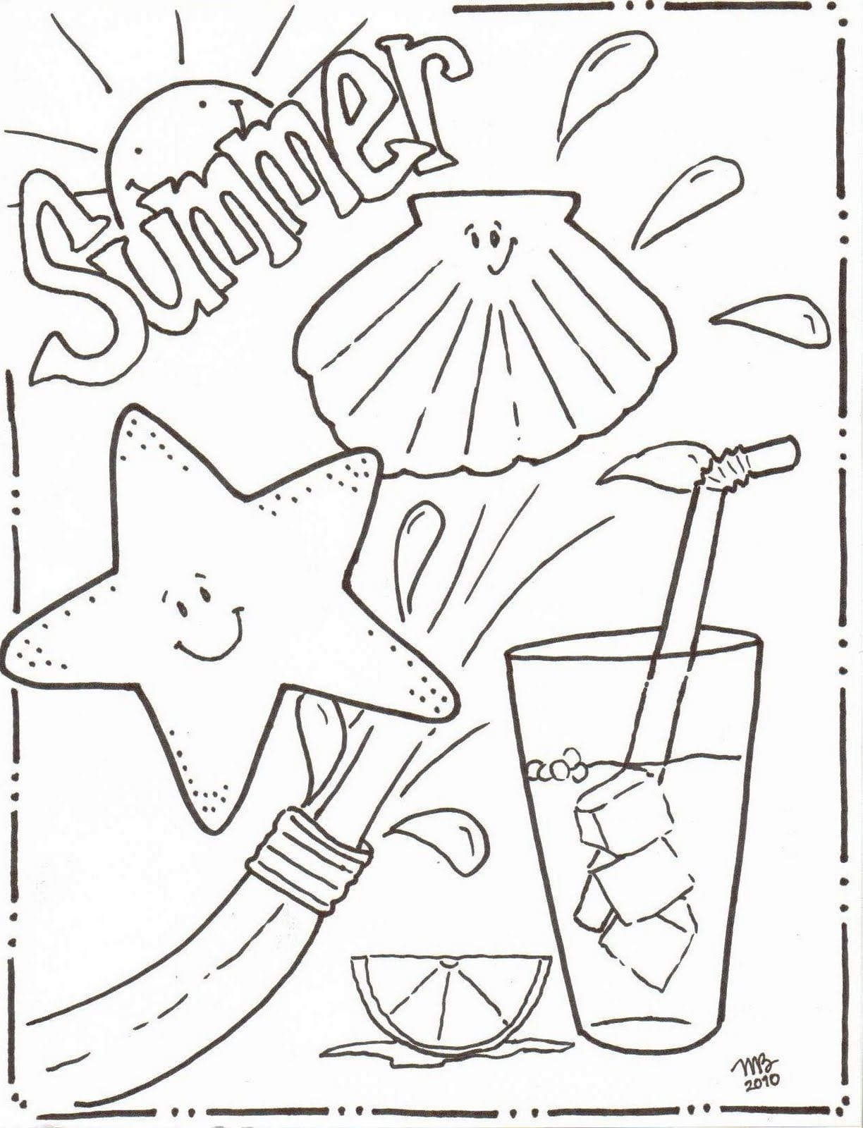 Summer Coloring Pages Printable For Children And Free