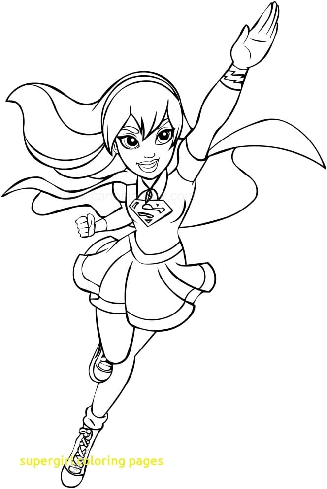 Coloring Books And Coloring Pages  Supergirl Coloring Pages