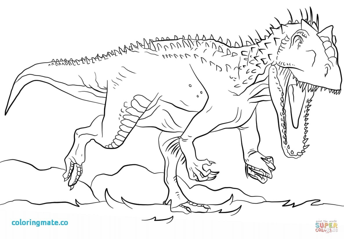 T Rex Coloring Page Pages Beautiful Jurassic Park Indominus Within