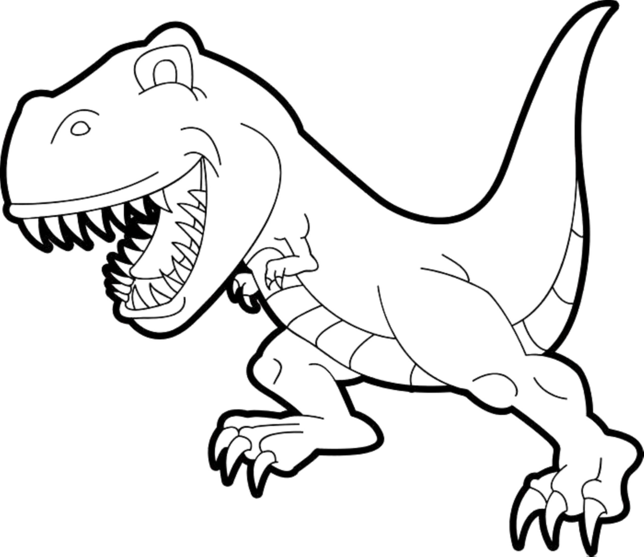 Tyrannosaurus Rex Coloring New Simple Colouring Valid Trend T In