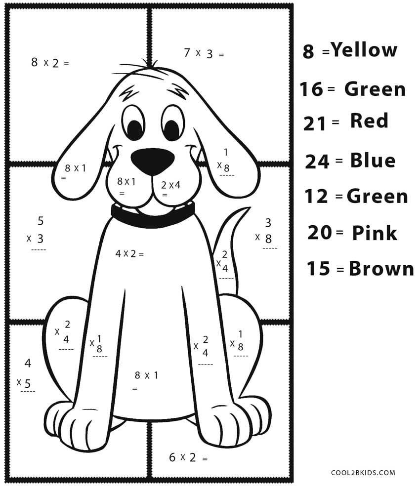 Useful Free Math Coloring Worksheets 28 Collection Of Pages High