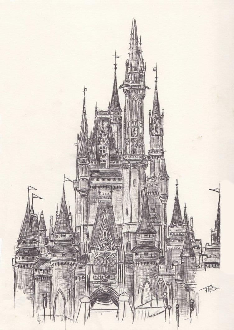 Walt Disney World  Cinderella's Castle By Tombromley On Deviantart