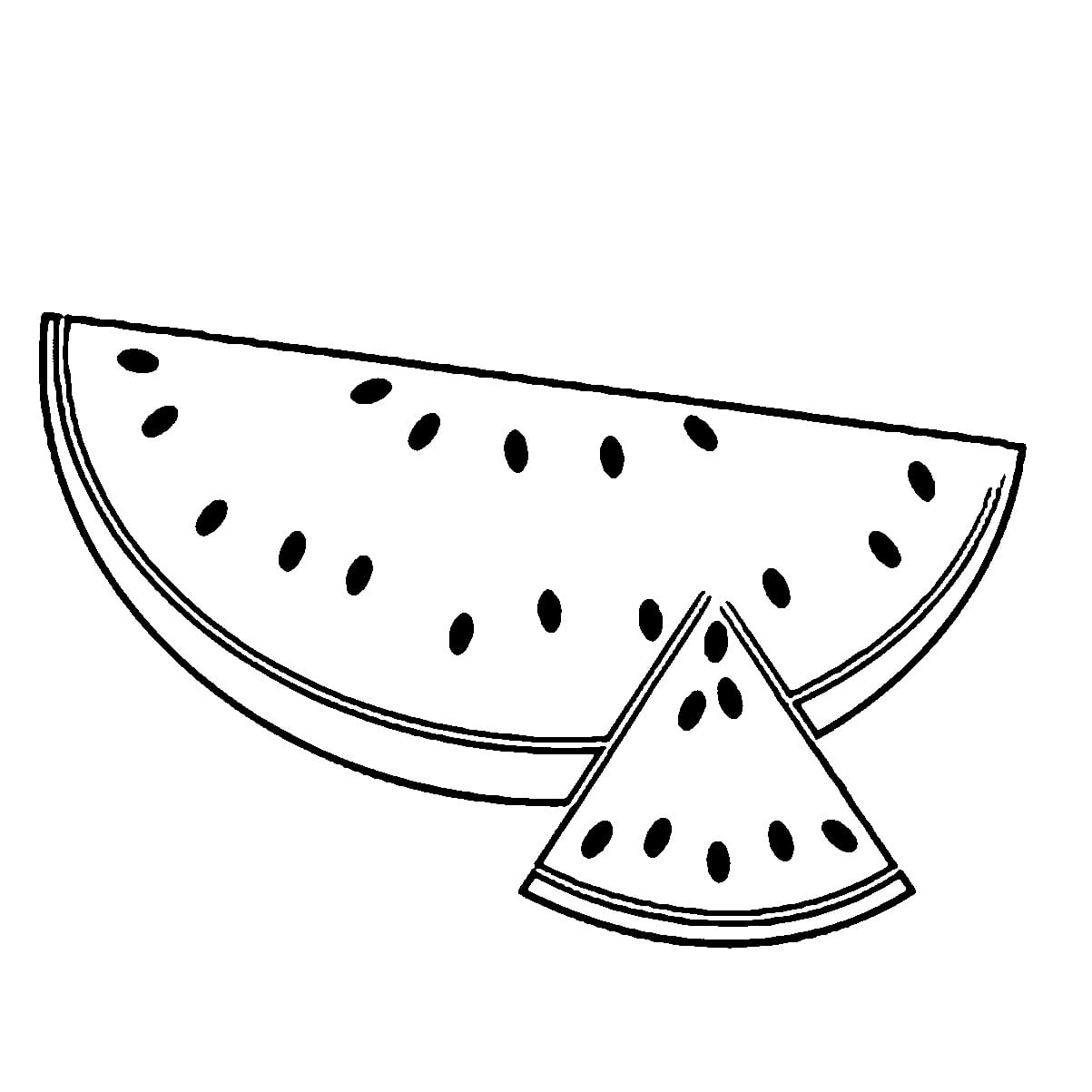 Watermelon Coloring Page For Glum Me Pages Of 0