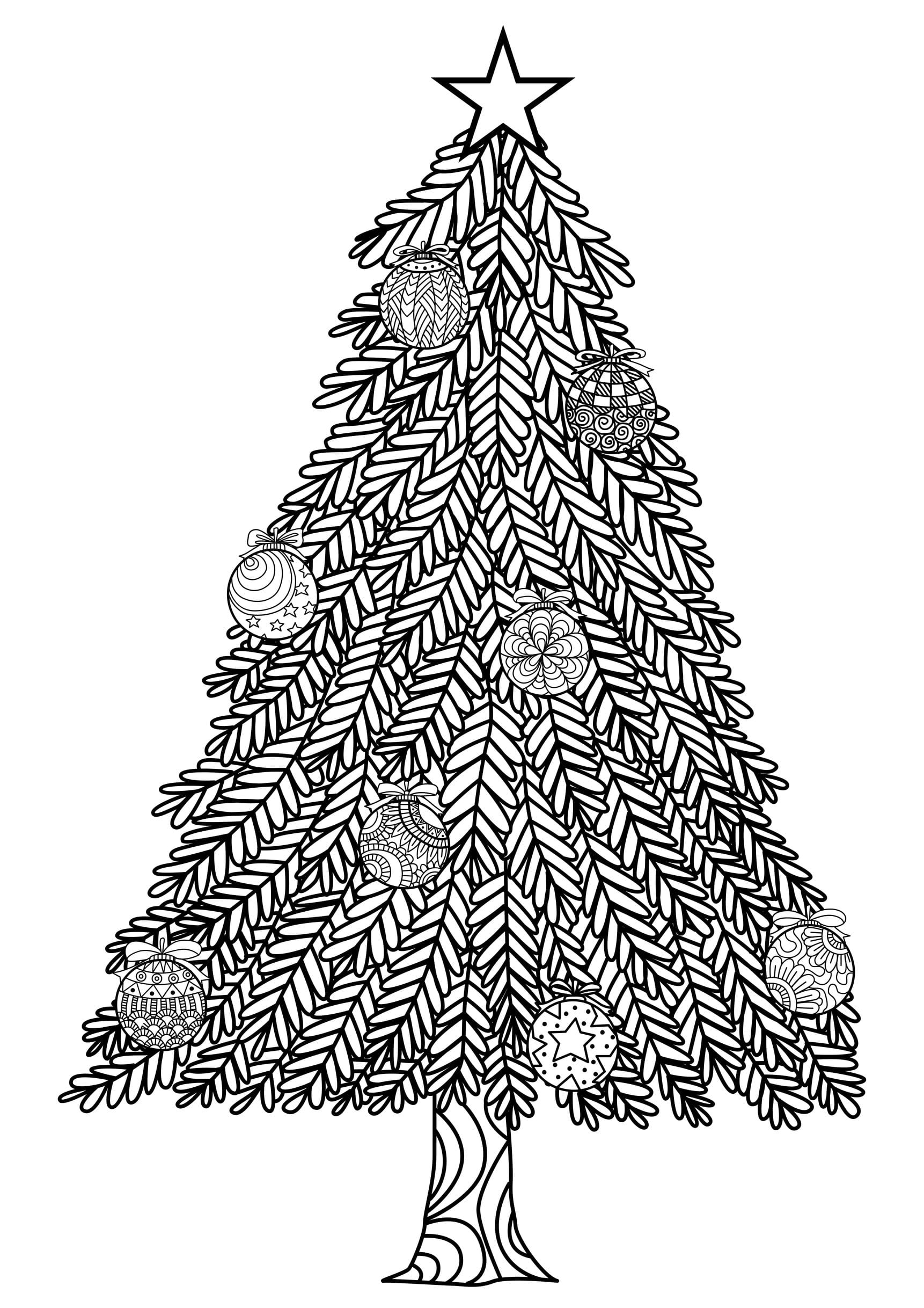 Blank Christmas Tree Coloring Page For Pages
