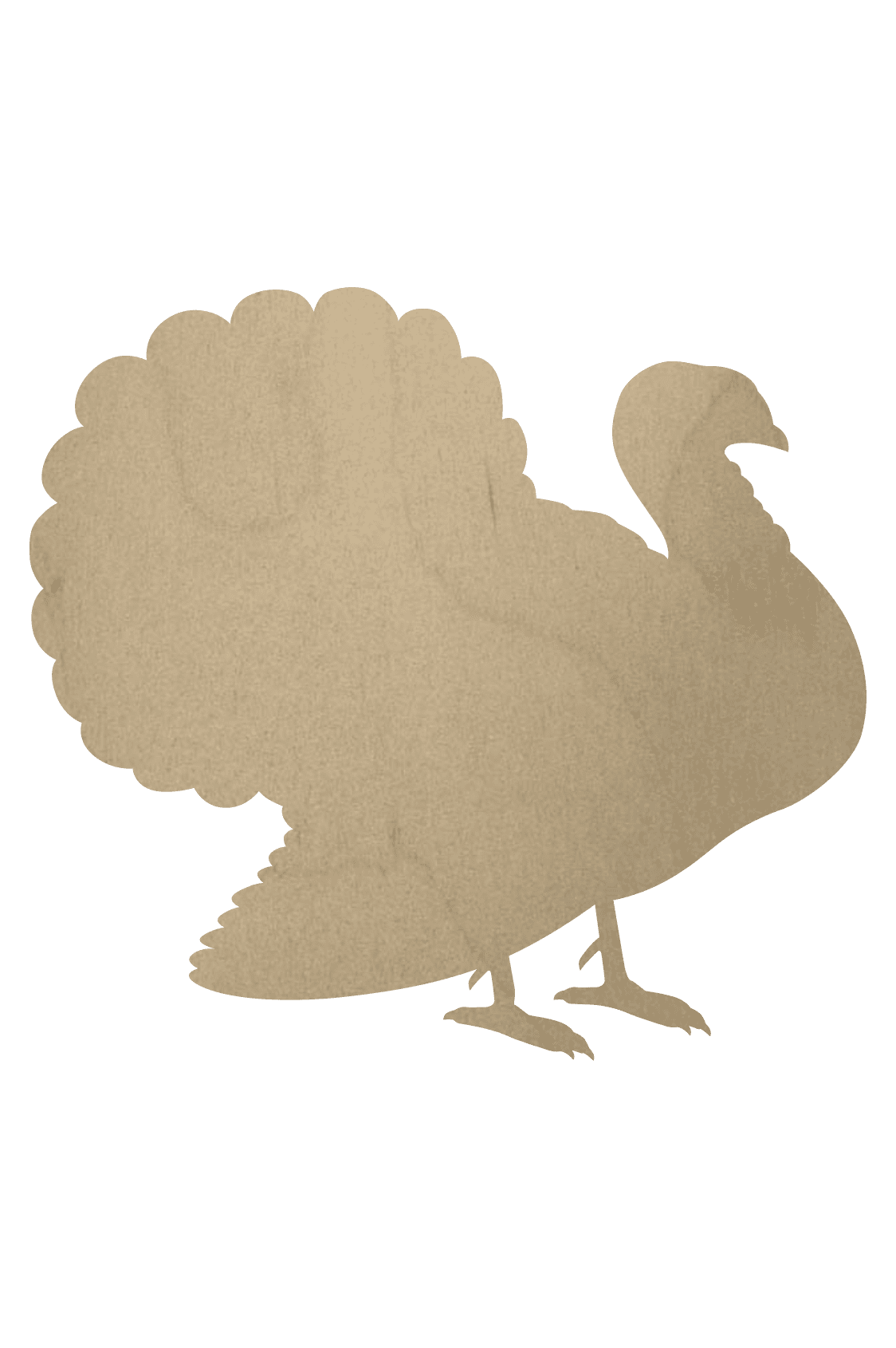 Wooden Turkey Cutout