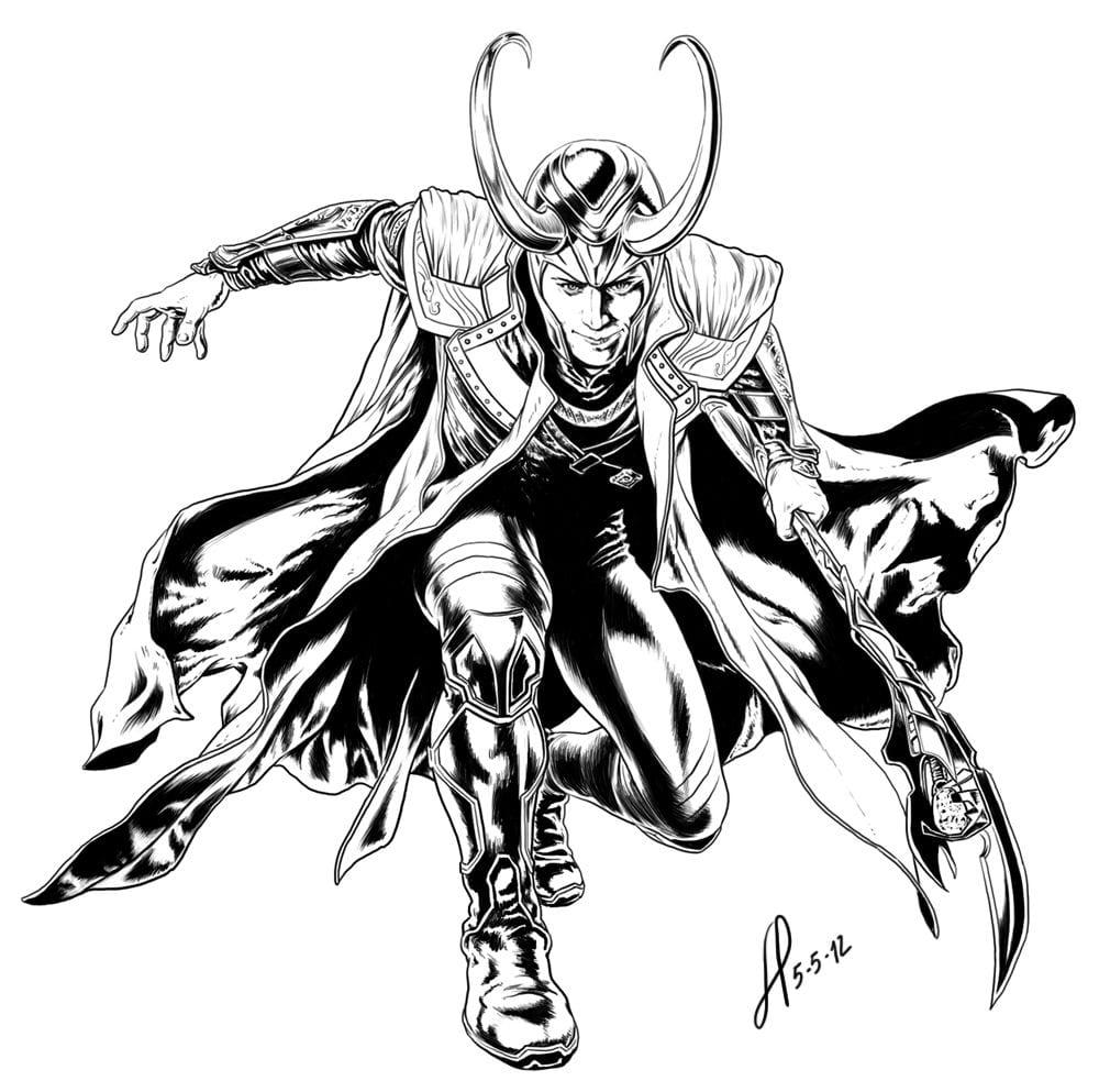 Loki Coloring Page