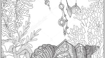 Ocean Coral Coloring Pages