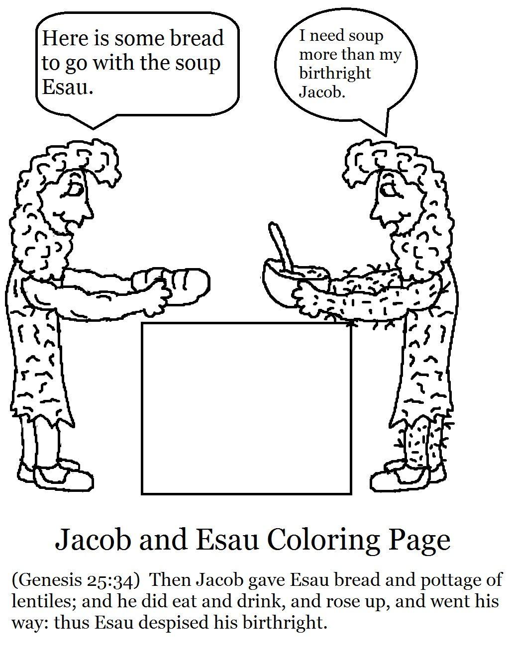 Church House Collection Blog  Jacob And Esau Sunday School Stuff