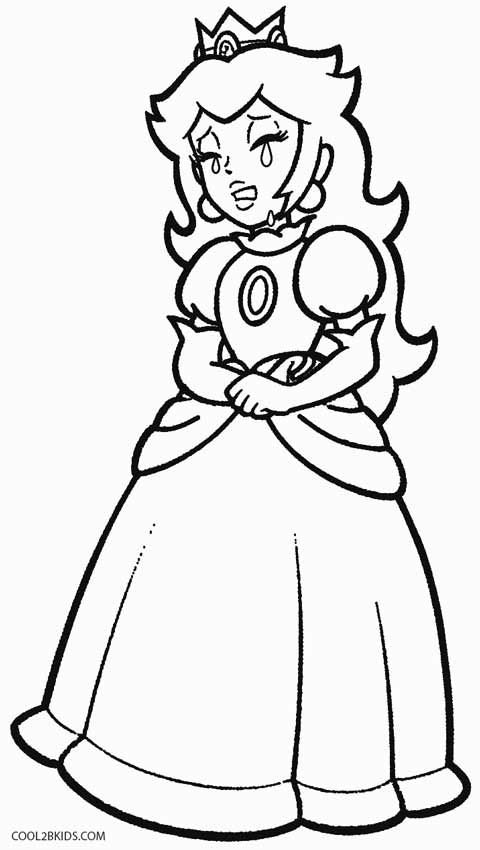 Princess Peach Coloring Page