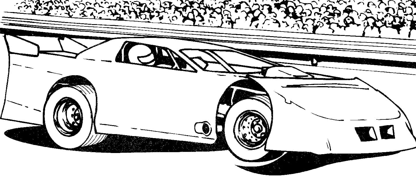 28+ Collection Of Dirt Track Race Car Coloring Pages