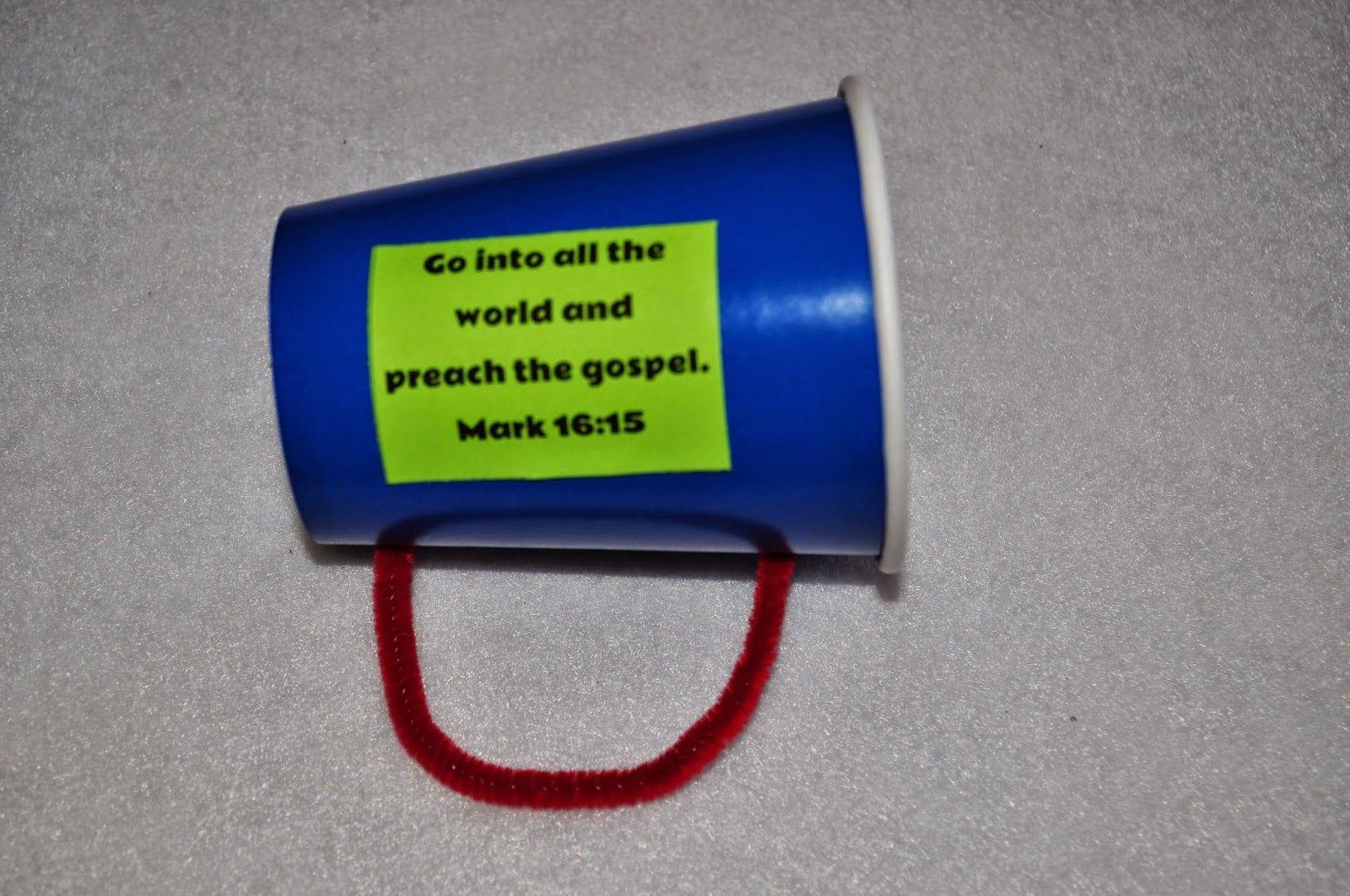 Gospel Megaphone Craft For Preschoolers