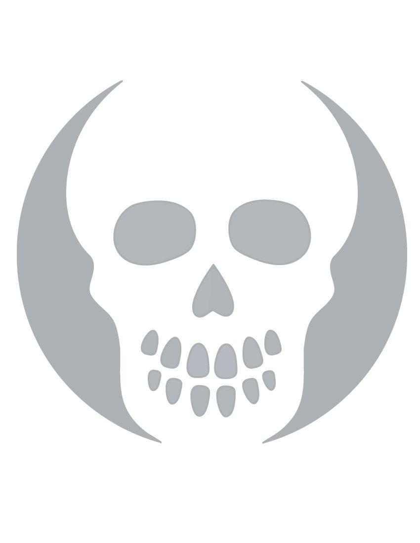 Printable Skull Stencil Coolest Free Printables