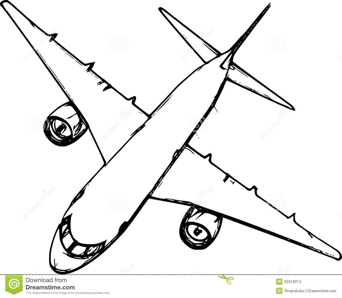 28+ Collection Of Aeroplane Sketch Drawing