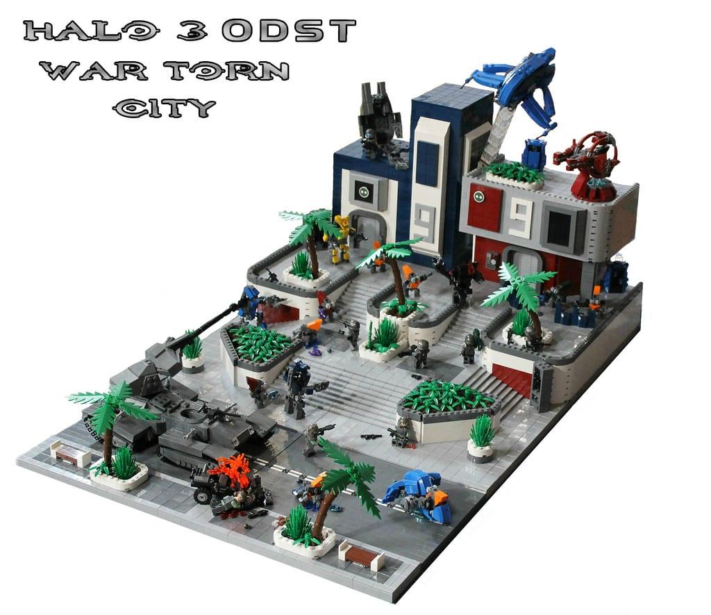 Lego Halo 3 Odst  War Torn City