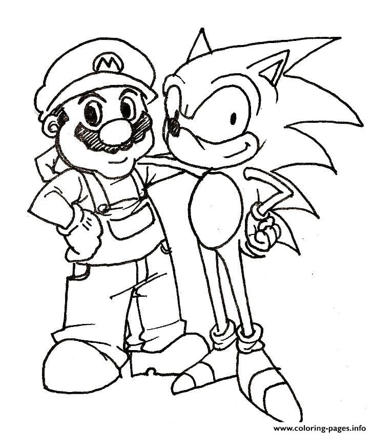 Sonic And Friends Coloring Pages To Print