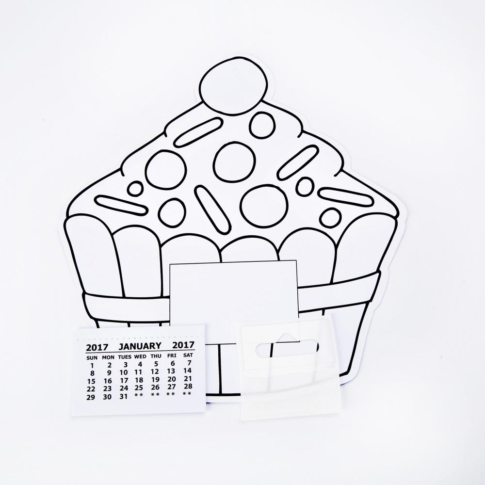 Cupcake Colour In Calendar Kits