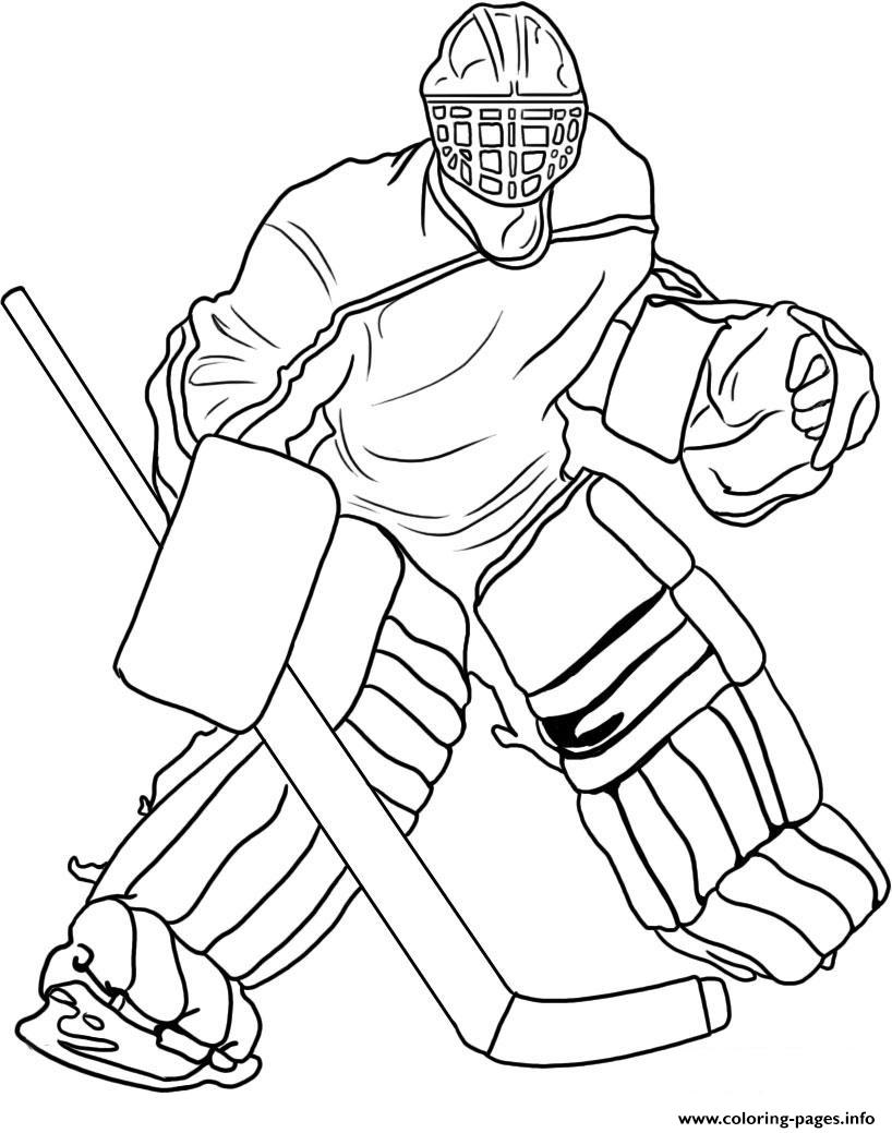 Hockey Goalie Coloring Pages Printable