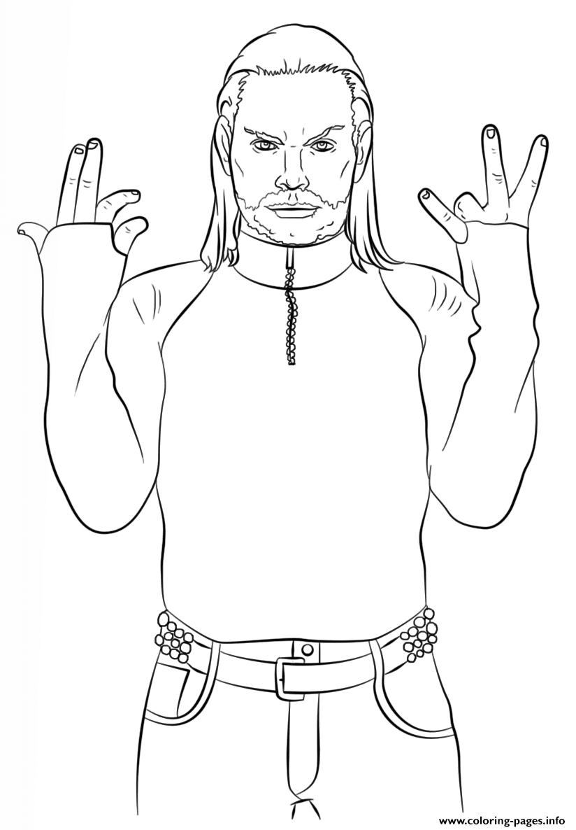 Wwe Jeff Hardy Coloring Page Coloring Pages Printable