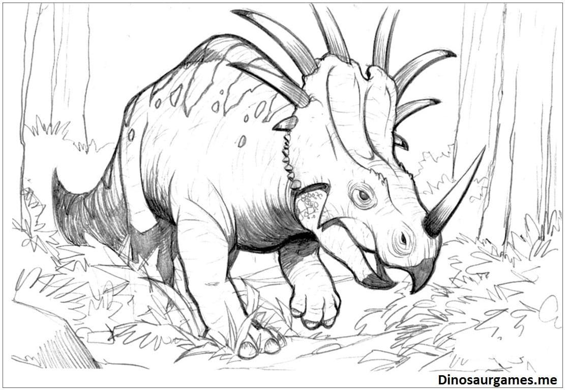 Styracosaurus Coloring Page Gwangistyracoblog William Stout
