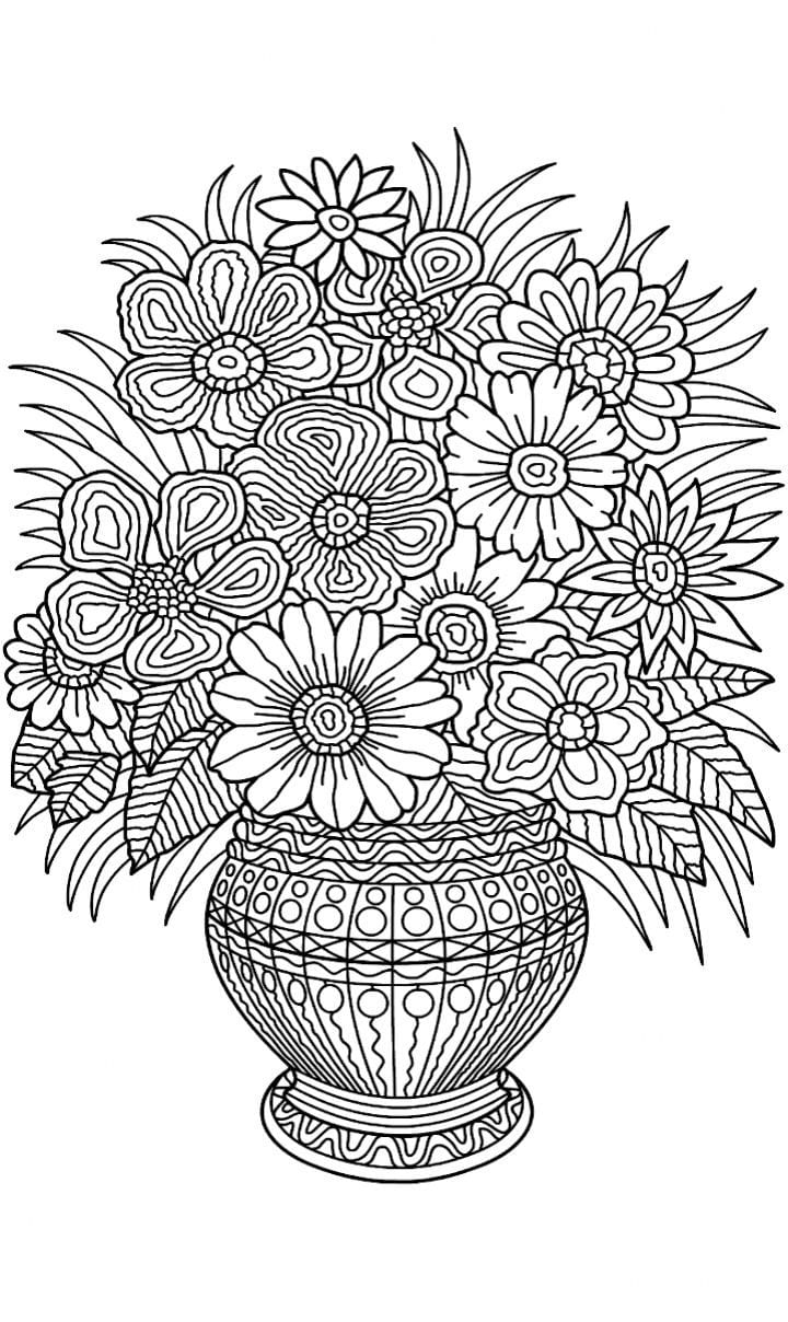Flower Vase Coloring Page