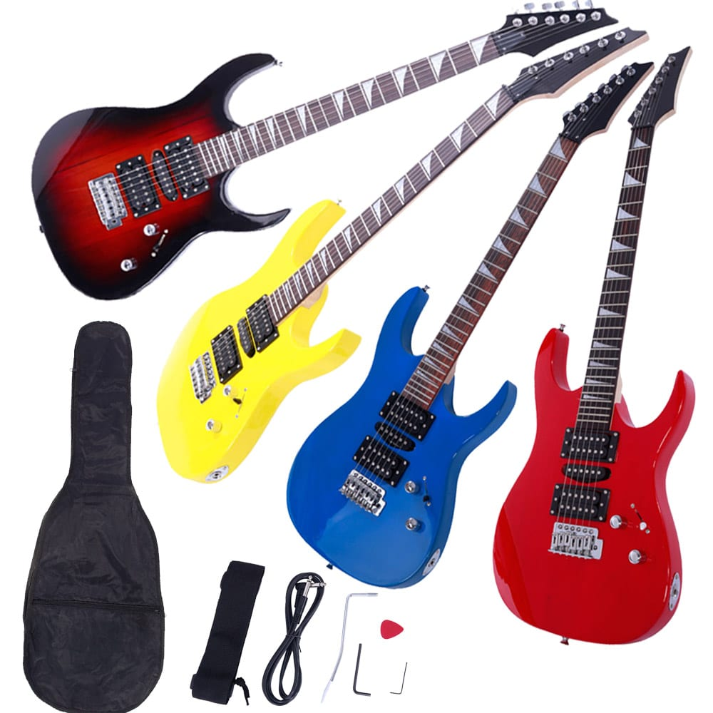 New 4 Colors Practice Beginner Electric Guitar W  Bag Strap Pick