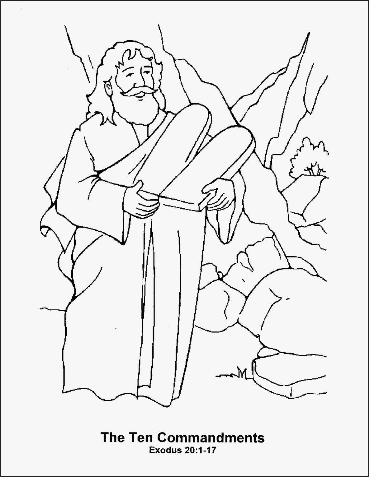 27 Moses And The Burning Bush Coloring Pages