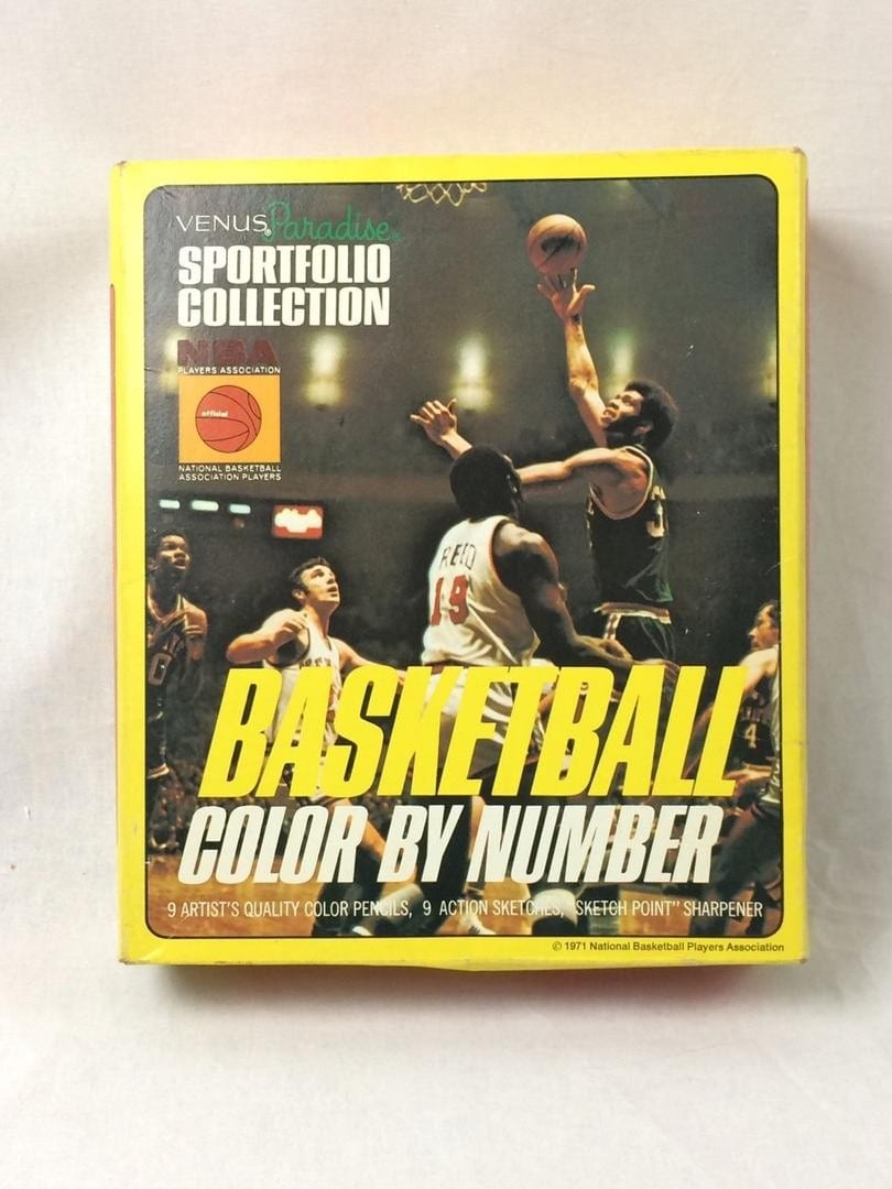 1971 Nba Venus Paradise Sportfolio Collection Basketball Color By