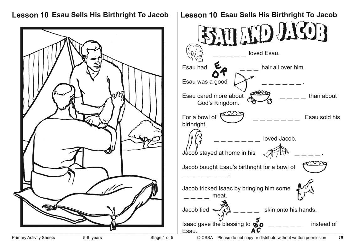 Primary Activity Sheets Stage 1 – Christadelphian Sunday School