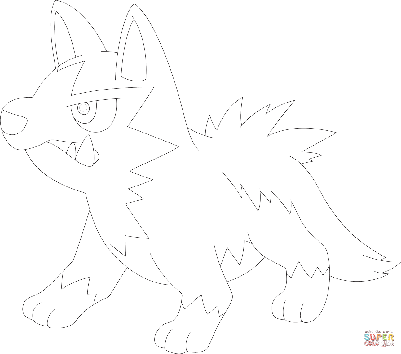 Poochyena Coloring Page