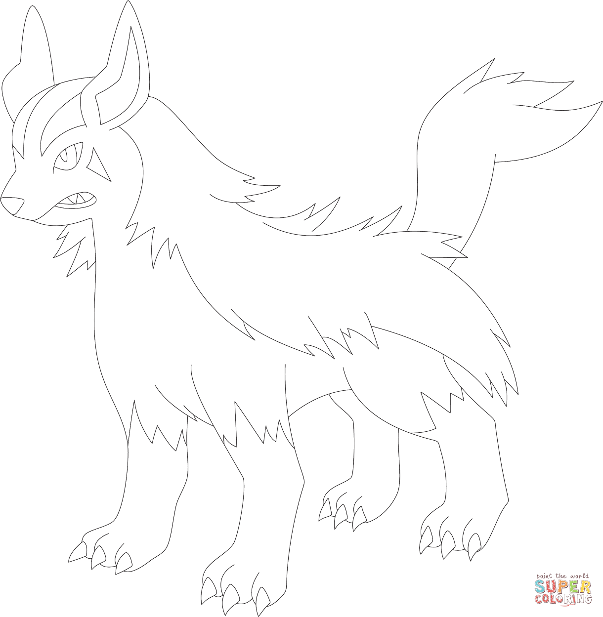 Mightyena Coloring Page
