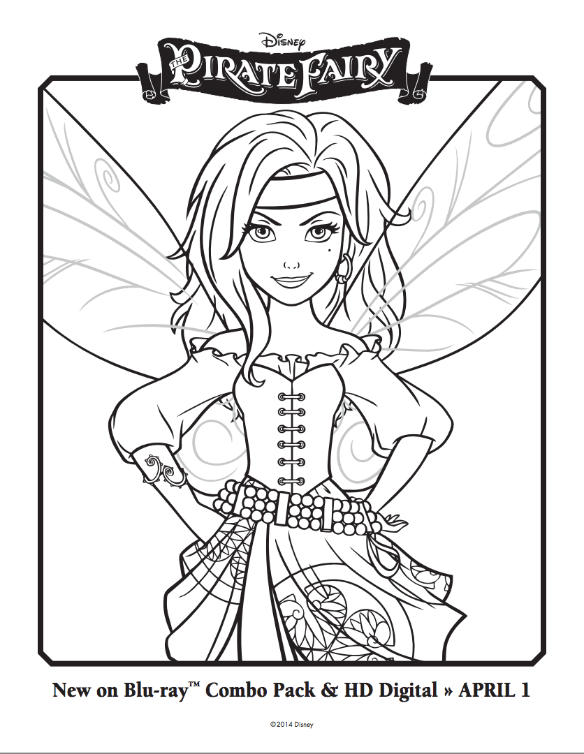 The Pirate Fairy Coloring Sheets  Some Day, I Will Have Her