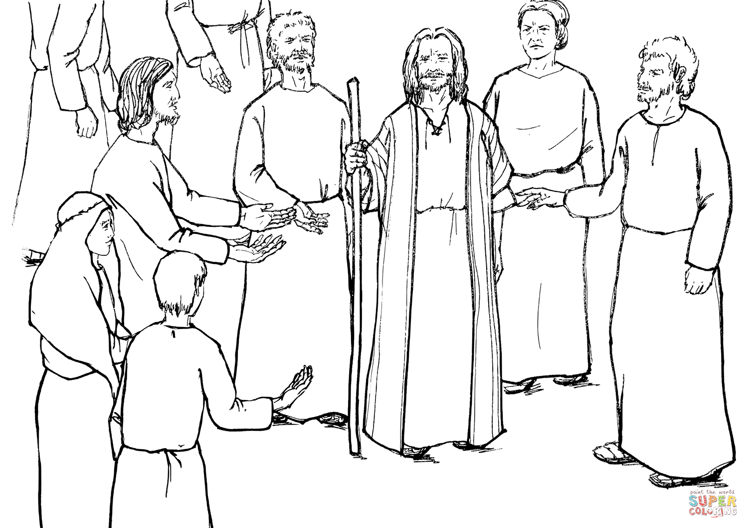 Moses Speaks To The Israelites Coloring Page