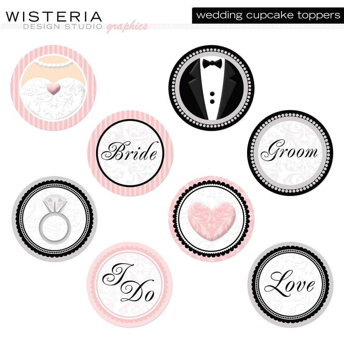 Printable Cupcake Toppers Wedding