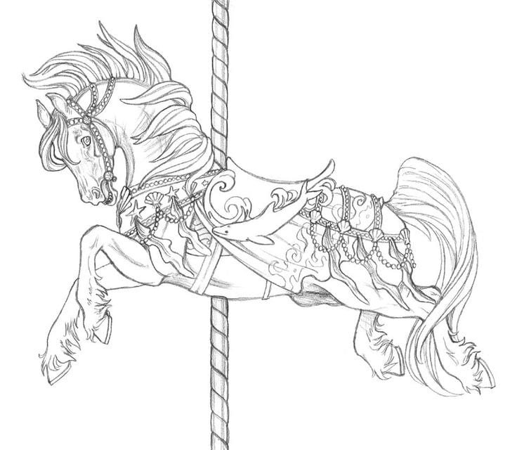 Free Carousel Horse Coloring Pages