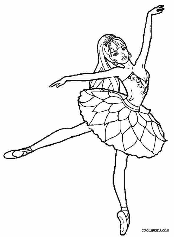 Princess Ballerina Coloring Pages