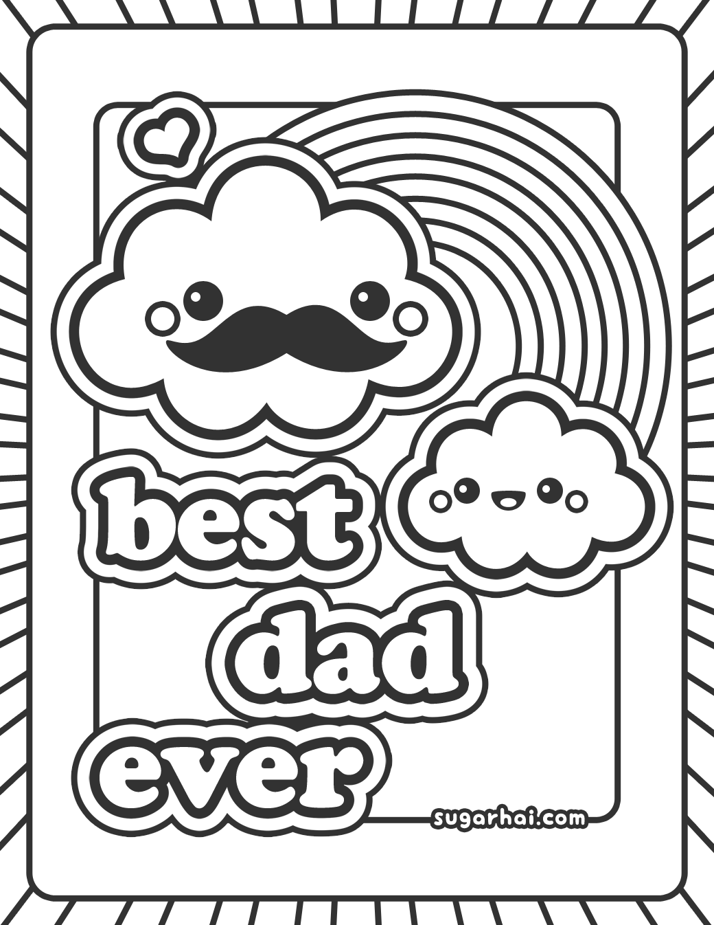 Free Best Dad Ever Coloring Page