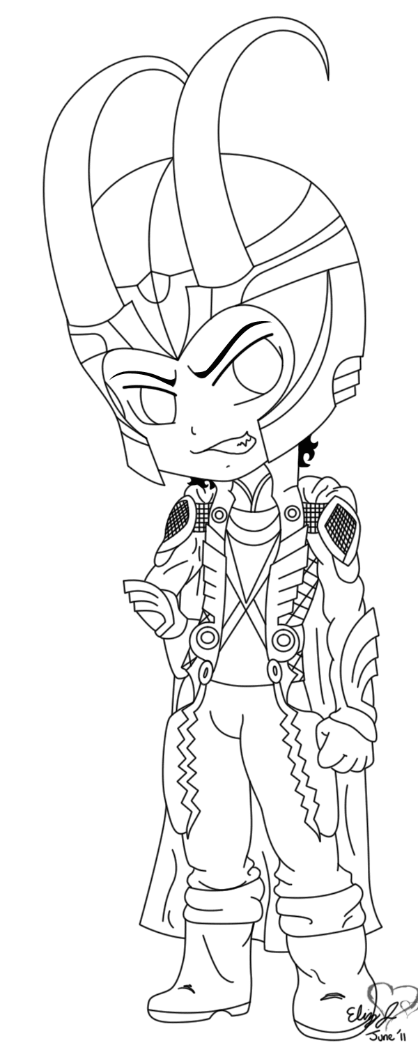Loki Marvel Coloring Pages