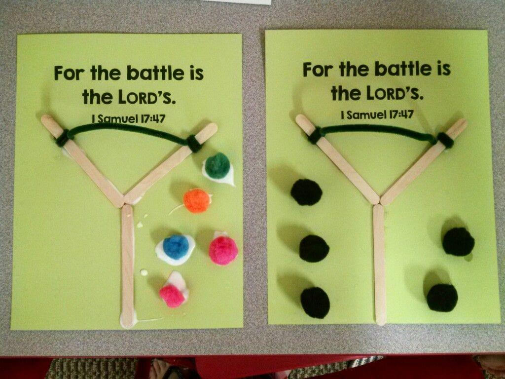 David And Goliath Craft  Preschool, Kindergarten Craft  Sunday