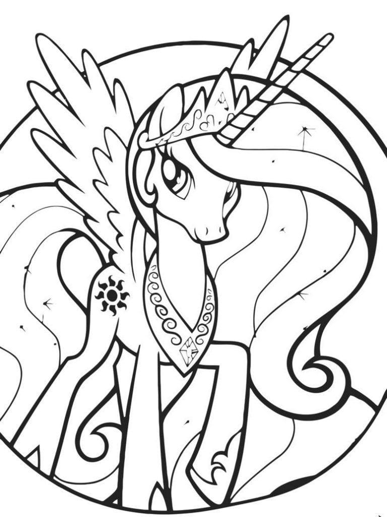 Princess Celestia Coloring Pages