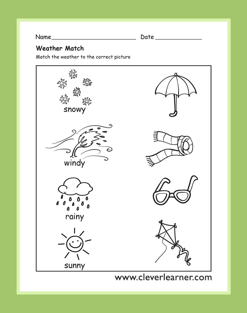 The Weather Activity Worksheets For Preschool Children  Weather