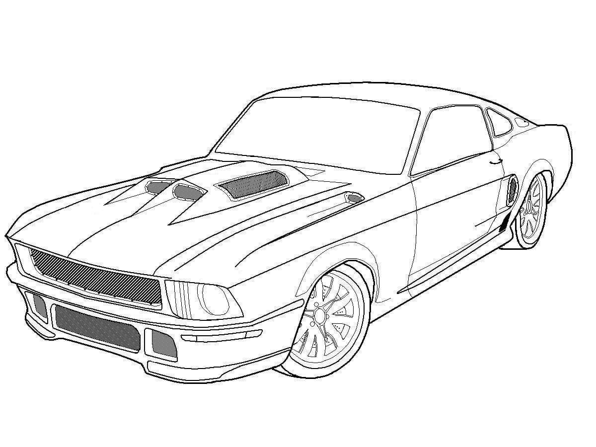 28+ Collection Of Mustang Coloring Pages