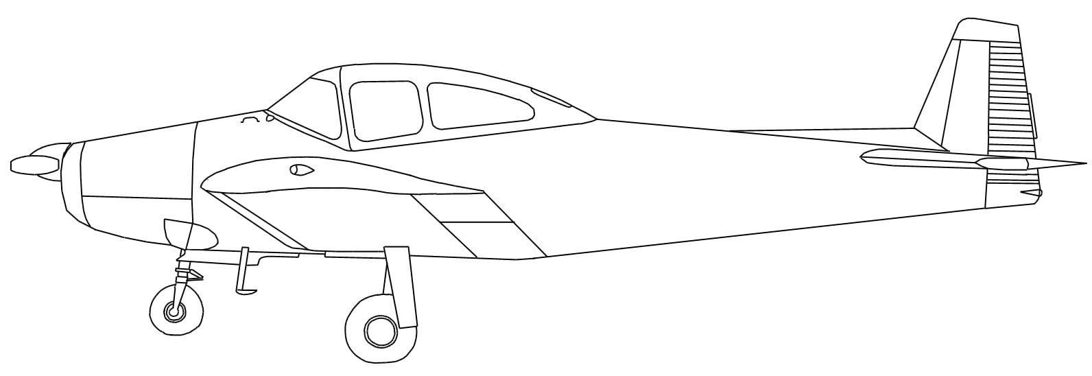 28+ Collection Of Outline Drawing Of An Aeroplane