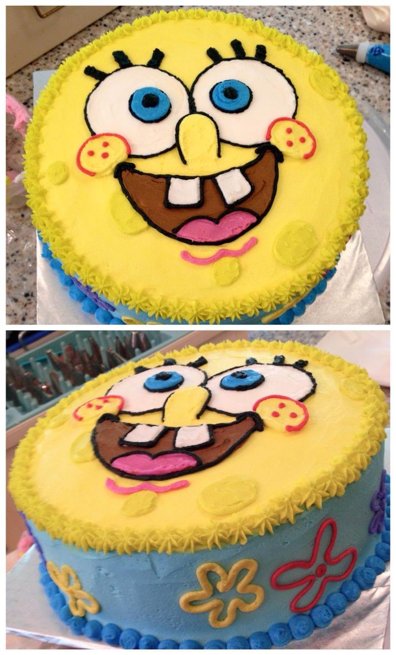 Sponge Bob Cake!  Spongebobcake  Nikijoycakes  Buttercream