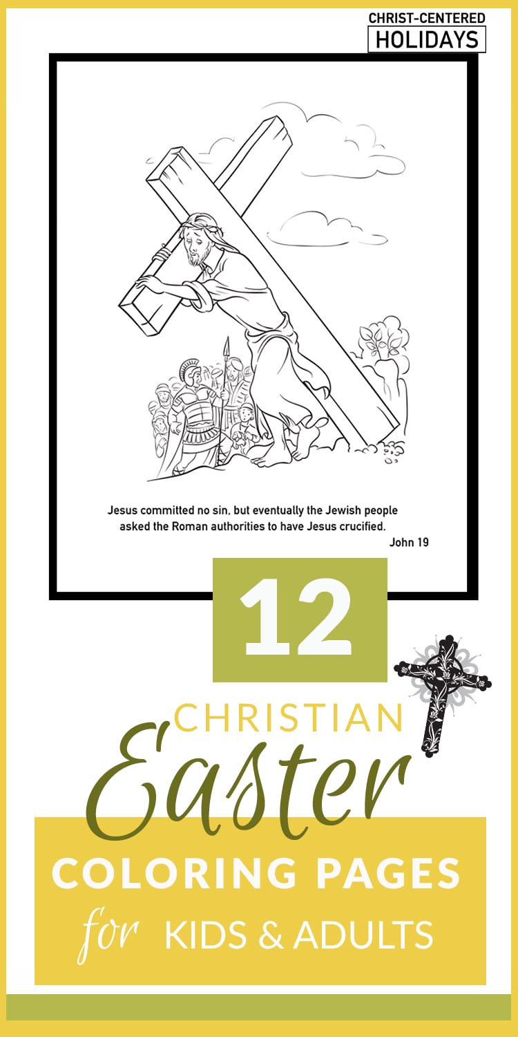Christian Easter Coloring Pages Printables (for Kids & Adults